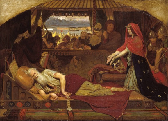 Lear and Cordelia 1849-54 Ford Madox Brown 1821-1893 Purchased with assistance from the Art Fund and subscribers 1916 http://www.tate.org.uk/art/work/N03065